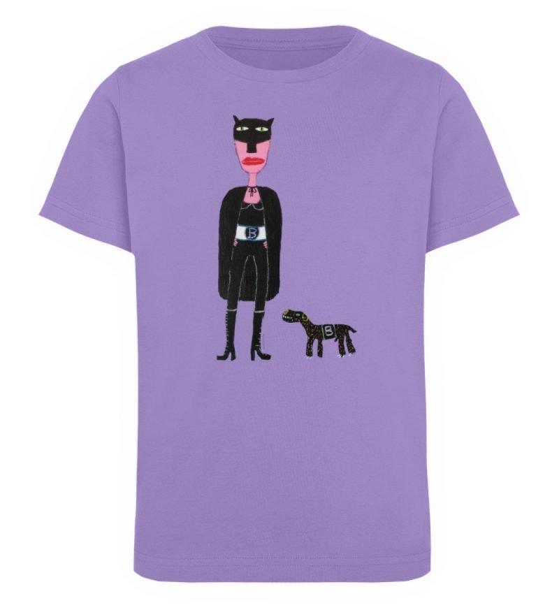 """""""Batwoman und Batdog"""" von Irene Fastner - Kinder Organic T-Shirt-6884"""