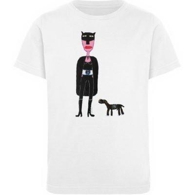 """""""Batwoman und Batdog"""" von Irene Fastner - Kinder Organic T-Shirt-3"""