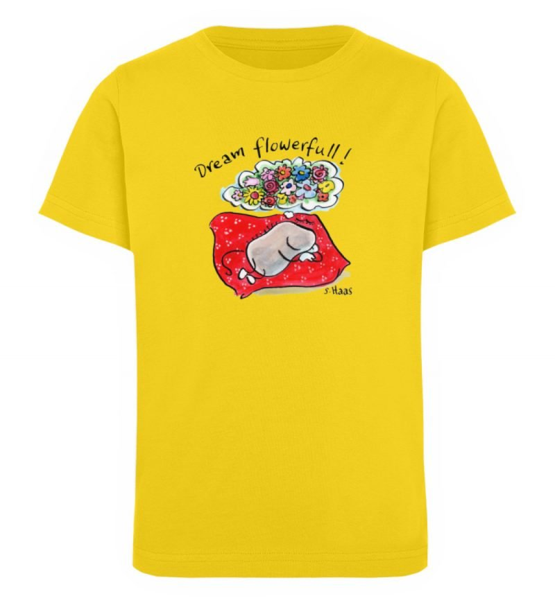 """""""Dream flowerfull!"""" von Steffen Haas - Kinder Organic T-Shirt-6885"""