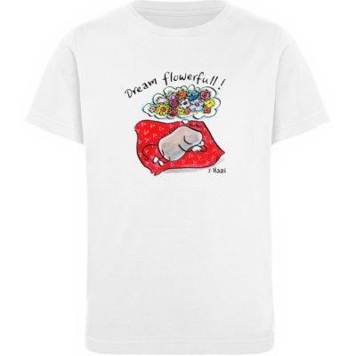 """""""Dream flowerfull!"""" von Steffen Haas - Kinder Organic T-Shirt-3"""