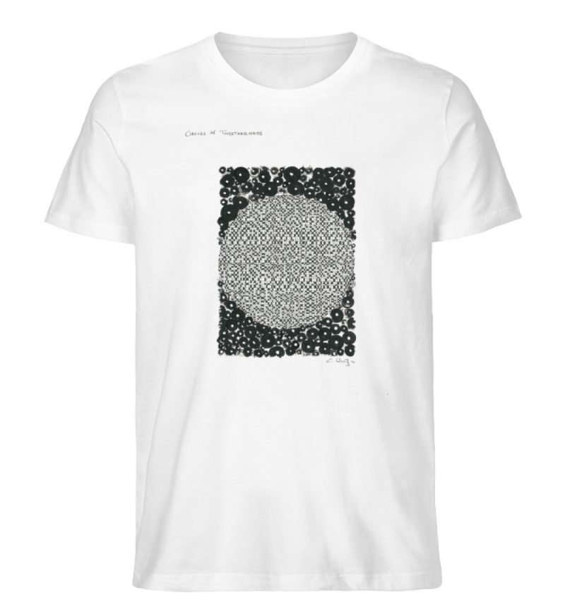 """Circles in togetherness"" von C . Wurz - Men Premium Organic Shirt-3"