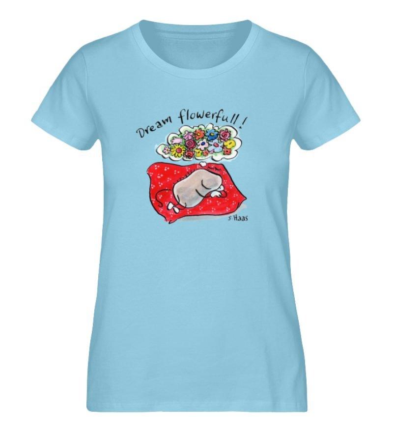 """""""Dream flowerfull!"""" von Steffen Haas - Ladies Premium Organic Shirt-674"""