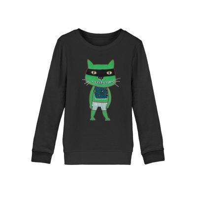 """freche Katze"" von Irene Fastner - Mini Changer Sweatshirt ST/ST-16"
