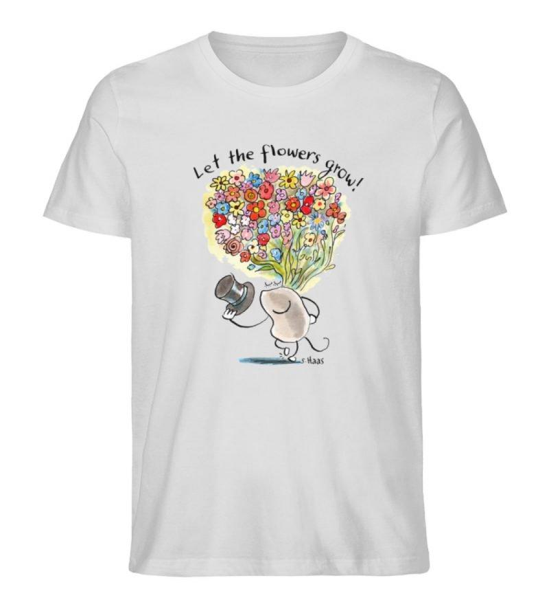 """""""Let the flowers grow!"""" von Steffen Haas - Men Premium Organic Shirt-6961"""