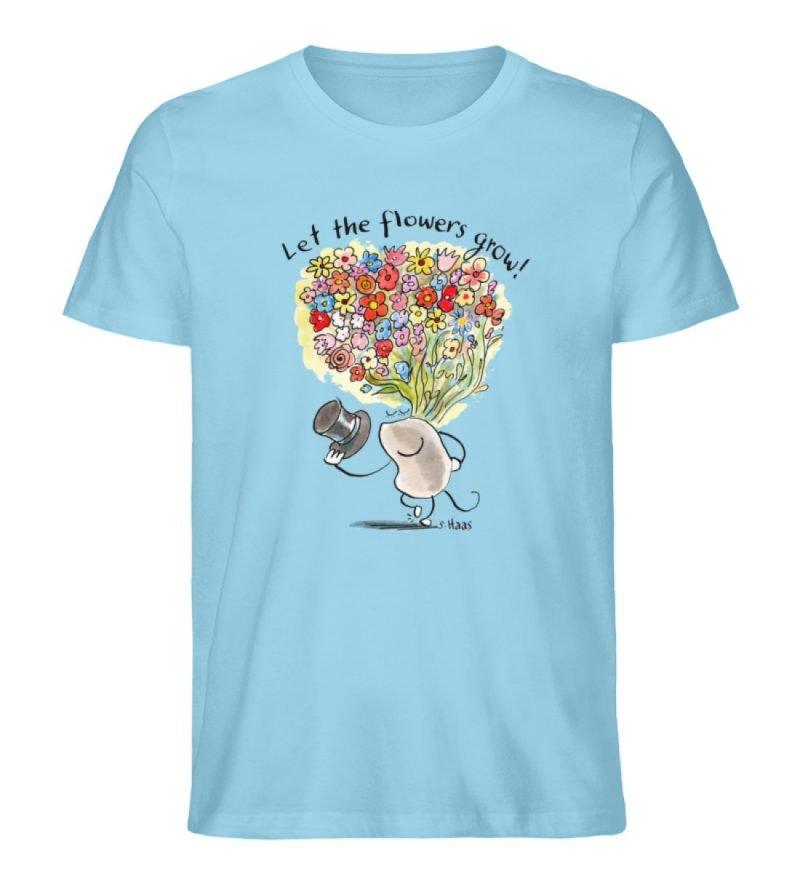"""""""Let the flowers grow!"""" von Steffen Haas - Men Premium Organic Shirt-674"""
