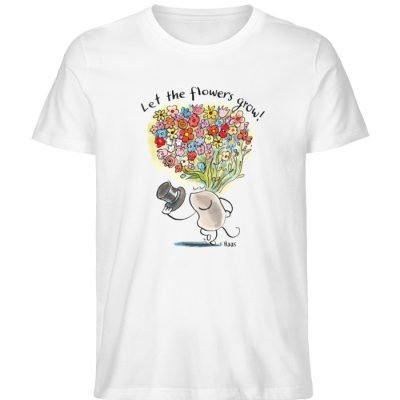 """Let the flowers grow!"" von Steffen Haas - Men Premium Organic Shirt-3"