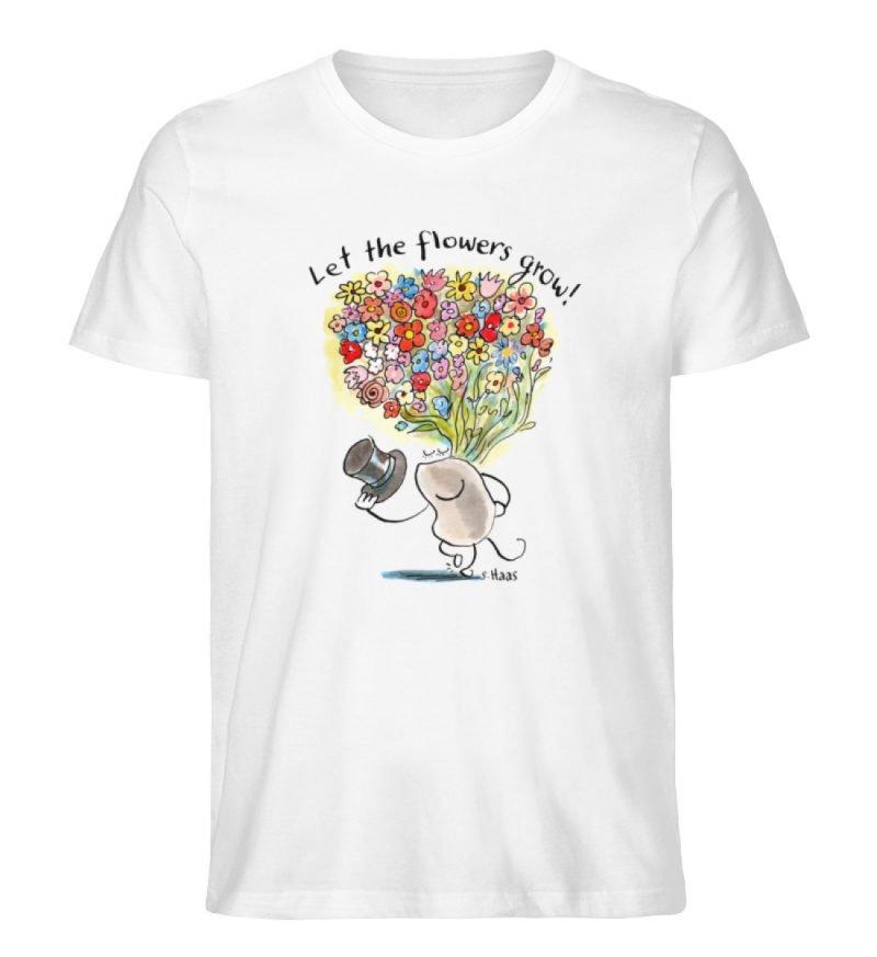 """""""Let the flowers grow!"""" von Steffen Haas - Men Premium Organic Shirt-3"""