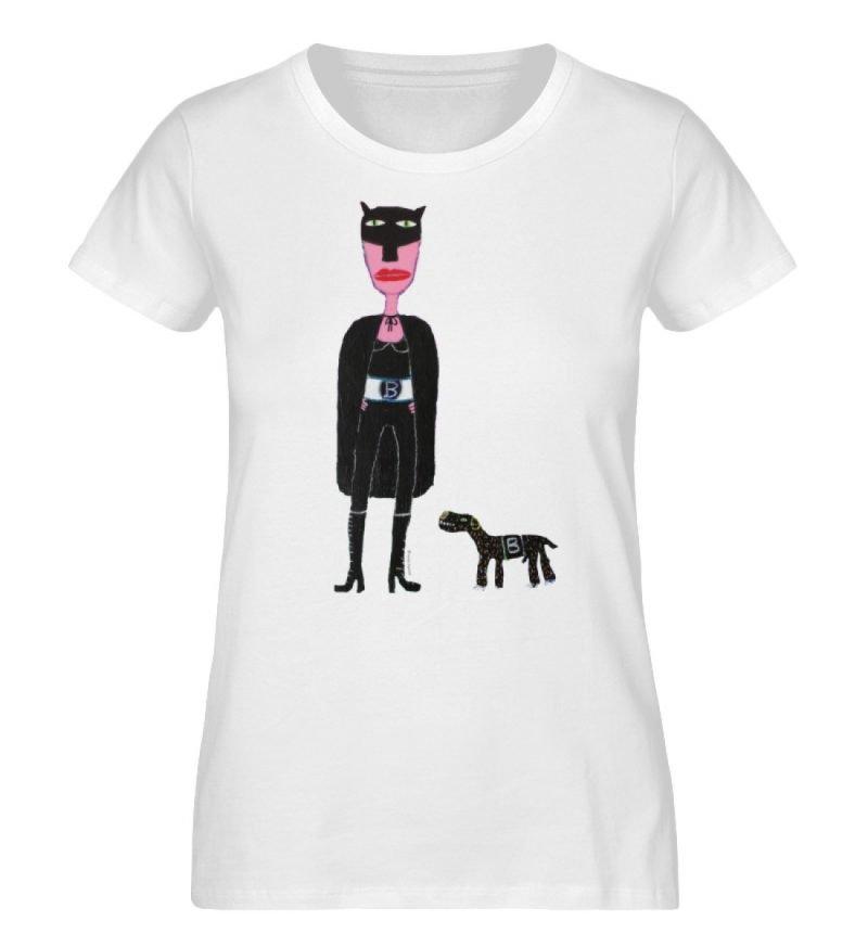 """""""Batwoman und Batdog"""" von Irene Fastner - Ladies Premium Organic Shirt-3"""