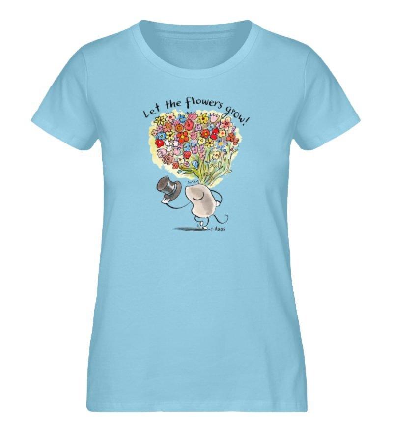 """""""Let the flowers grow!"""" von Steffen Haas - Ladies Premium Organic Shirt-674"""