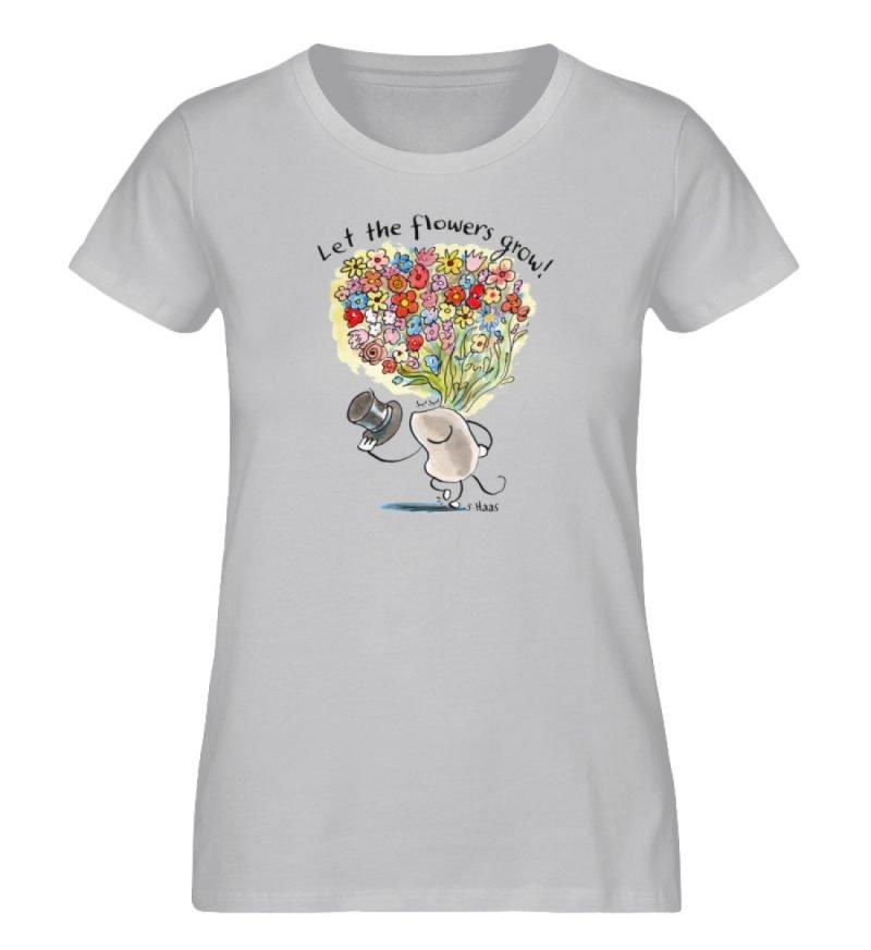 """""""Let the flowers grow!"""" von Steffen Haas - Ladies Premium Organic Shirt-17"""