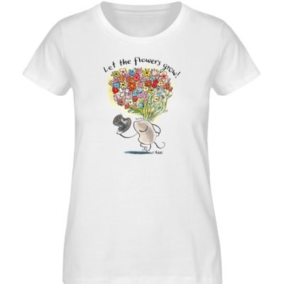 """Let the flowers grow!"" von Steffen Haas - Ladies Premium Organic Shirt-3"