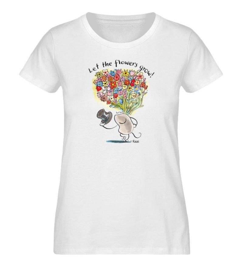 """""""Let the flowers grow!"""" von Steffen Haas - Ladies Premium Organic Shirt-3"""