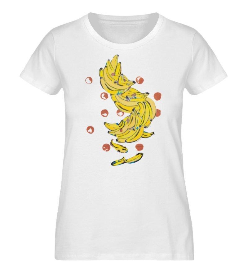 """""""Bananas"""" von Alrun Prünster Soares - Ladies Organic Shirt-3"""