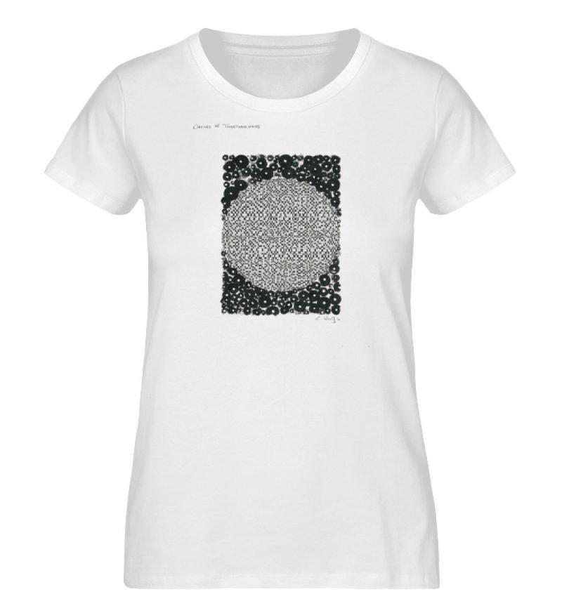 """""""Circles in togetherness"""" von C . Wurz - Ladies Organic Shirt-3"""