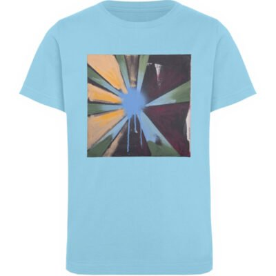 """Sternblau"" von Heribert Heindl - Kinder Organic T-Shirt-674"