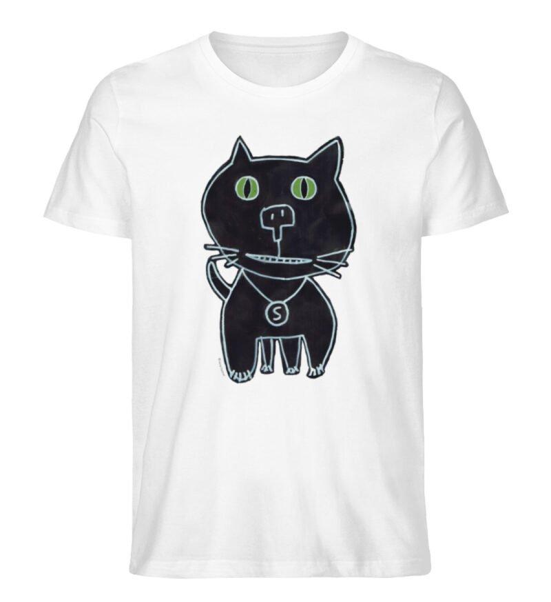 """schwarze Katze"" von Irene Fastner - Men Premium Organic Shirt-3"