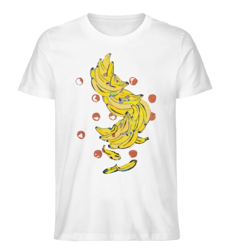 """""""Bananas"""" von Alrun Prünster Soares - Men Premium Organic Shirt-3"""