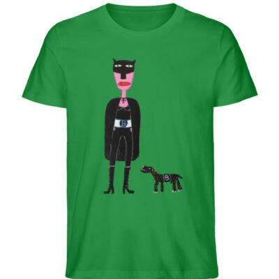 """""""Batwoman und Batdog"""" von Irene Fastner - Men Premium Organic Shirt-6879"""