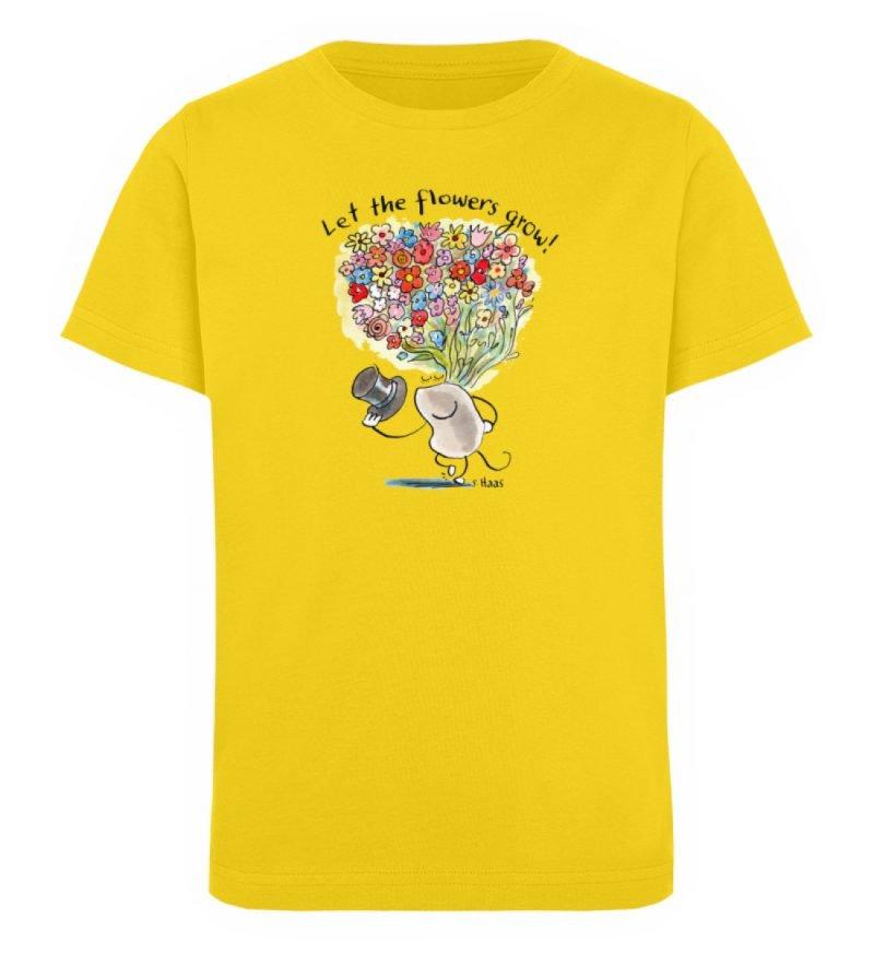 """""""Let the flowers grow!"""" von Steffen Haas - Kinder Organic T-Shirt-6885"""