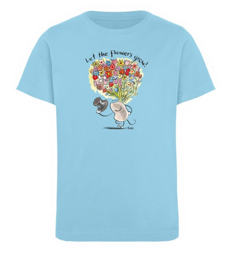 """""""Let the flowers grow!"""" von Steffen Haas - Kinder Organic T-Shirt-674"""