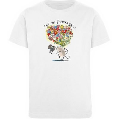 """Let the flowers grow!"" von Steffen Haas - Kinder Organic T-Shirt-3"