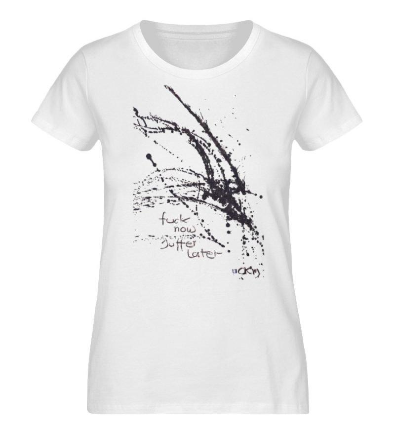 F.. now suffer later - Ladies Organic Shirt-3
