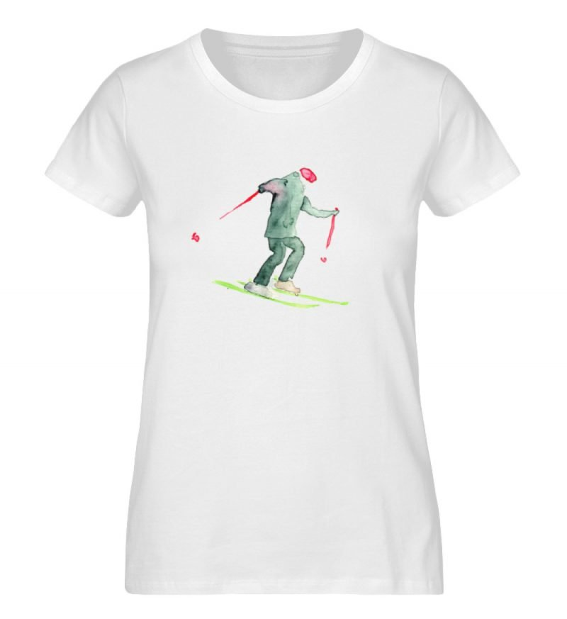 """Skifahrer"" von Sophia Kirst - Damen Premium Organic Shirt-3"