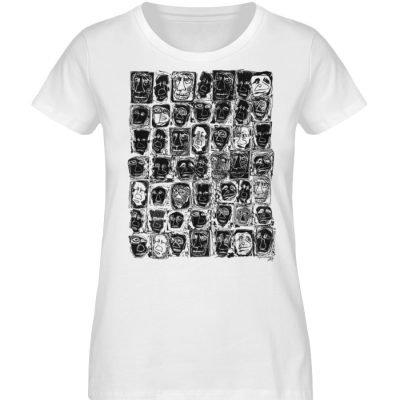 """Fratzparade"" von Vera Machourek - Damen Premium Organic Shirt-3"