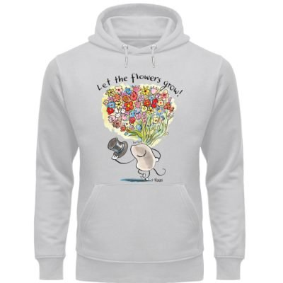 """Let the flowers grow!"" von Steffen Haas - Unisex Organic Hoodie-17"