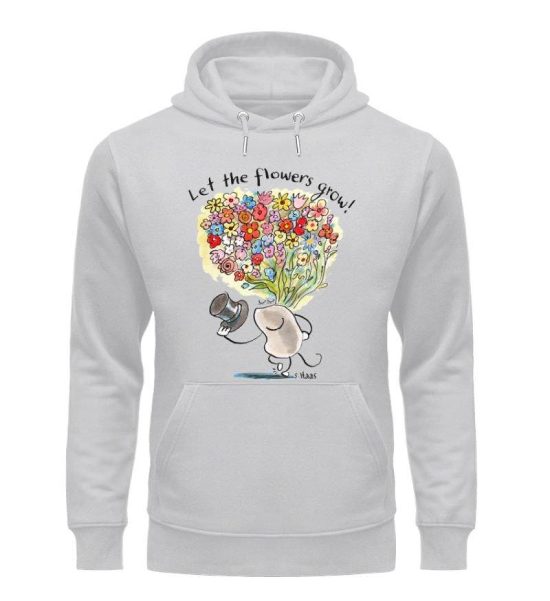 """""""Let the flowers grow!"""" von Steffen Haas - Unisex Organic Hoodie-17"""