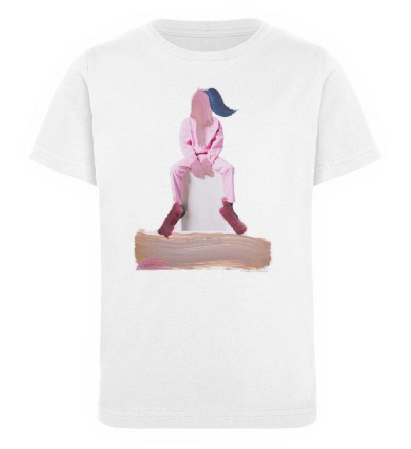 """""""die Abwartende"""" - Kinder Organic T-Shirt-3"""