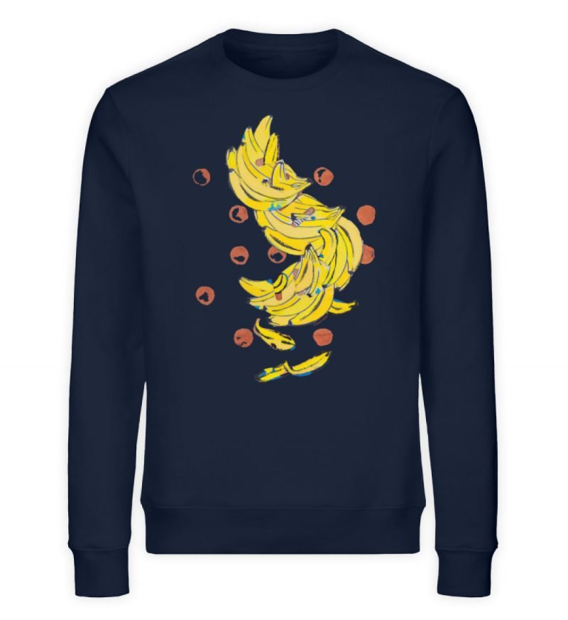 """""""Bananas"""" von Alrun Prünster Soares - Unisex Organic Sweatshirt-6959"""