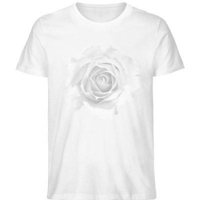 """""""weiße Rose"""" von Patricia Schwoerer - Herren Premium Organic Shirt-3"""