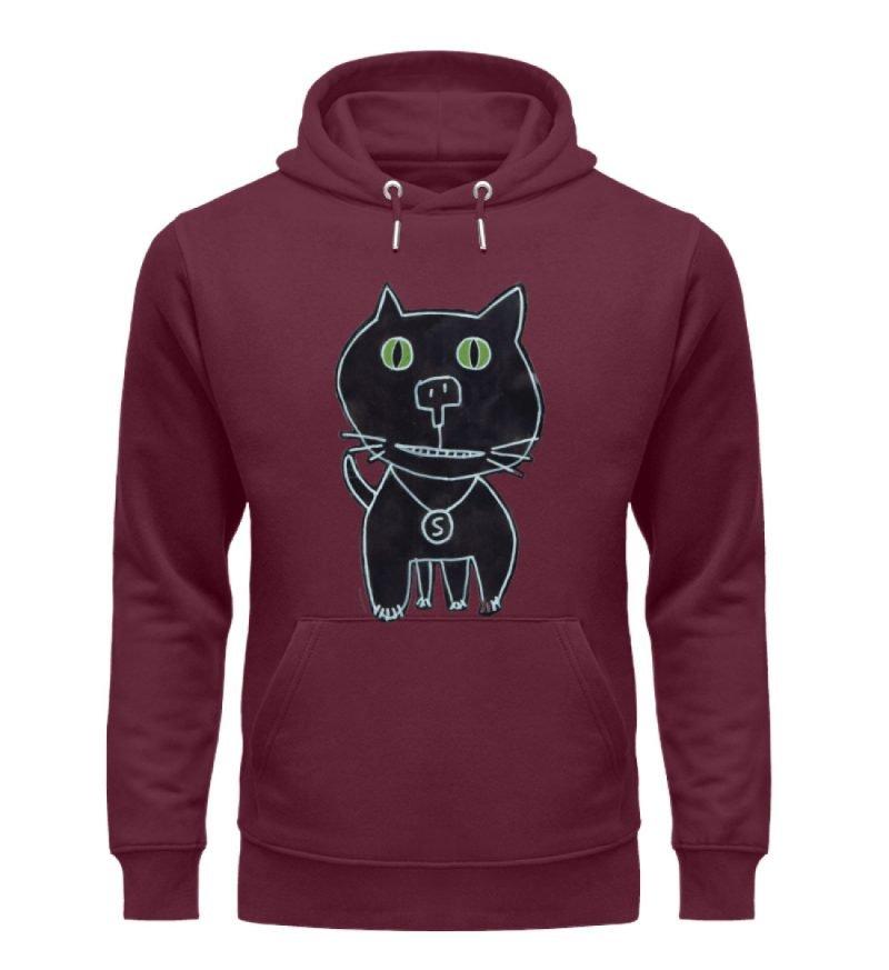 """""""schwarze Katze"""" von Irene Fastner - Unisex Organic Hoodie-839"""