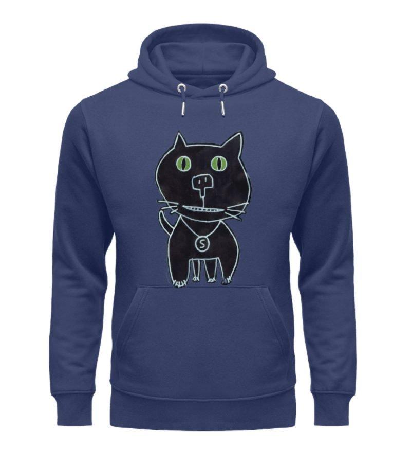 """""""schwarze Katze"""" von Irene Fastner - Unisex Organic Hoodie-6057"""