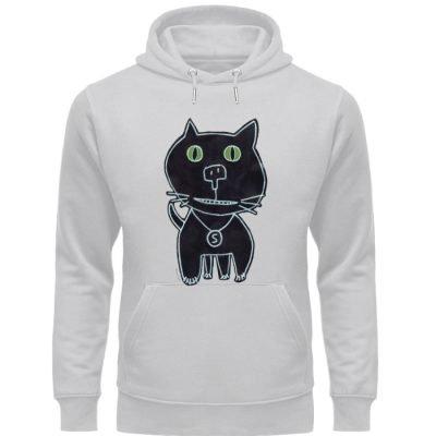 """""""schwarze Katze"""" von Irene Fastner - Unisex Organic Hoodie-17"""