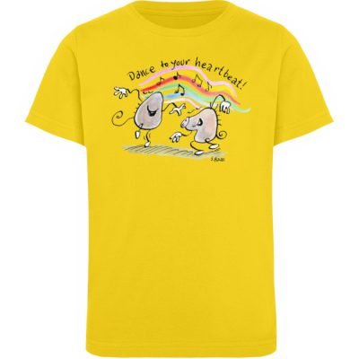 """Dance to your heartbeat!"" von Steffen - Kinder Organic T-Shirt-6885"