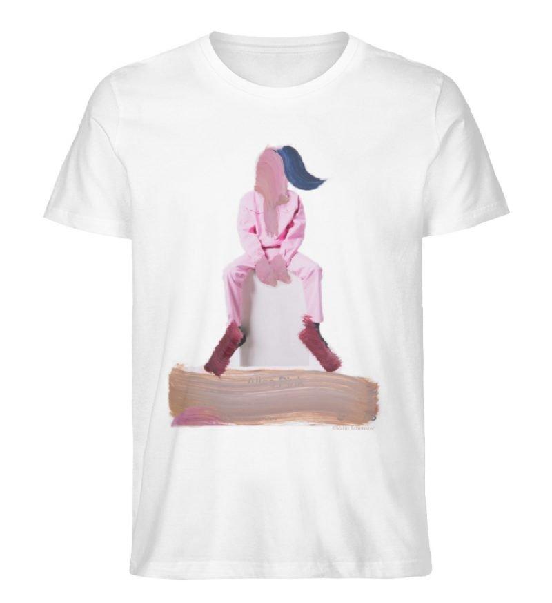 """""""die Abwartende"""" - Herren Premium Organic Shirt-3"""