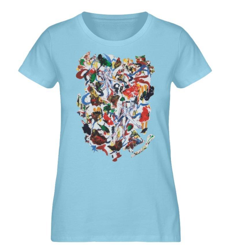 """Ring a Ring o-Rosie"" von Ira Bla - Damen Premium Organic Shirt-674"