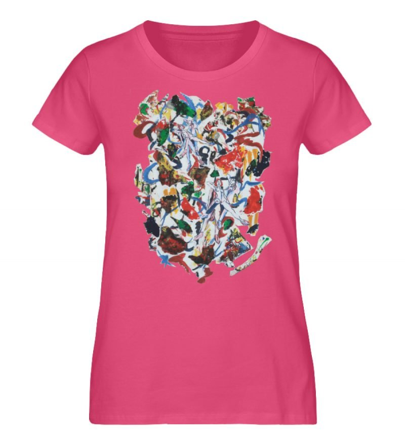"""Ring a Ring o-Rosie"" von Ira Bla - Damen Premium Organic Shirt-6866"
