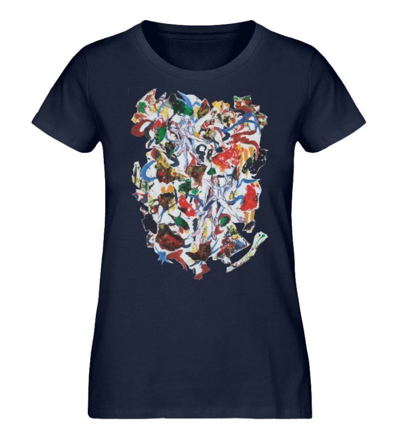 """Ring a Ring o-Rosie"" von Ira Bla - Damen Premium Organic Shirt-6959"