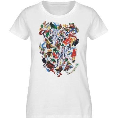 """Ring a Ring o-Rosie"" von Ira Bla - Damen Premium Organic Shirt-3"