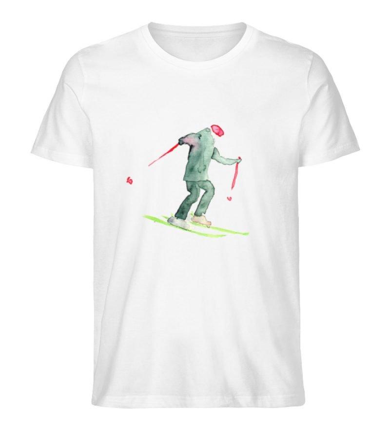 """Skifahrer"" von Sophia Kirst - Herren Premium Organic Shirt-3"