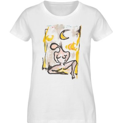 """Moondog pussy bathing"" by Ira Błażejwe - Damen Premium Organic Shirt-3"