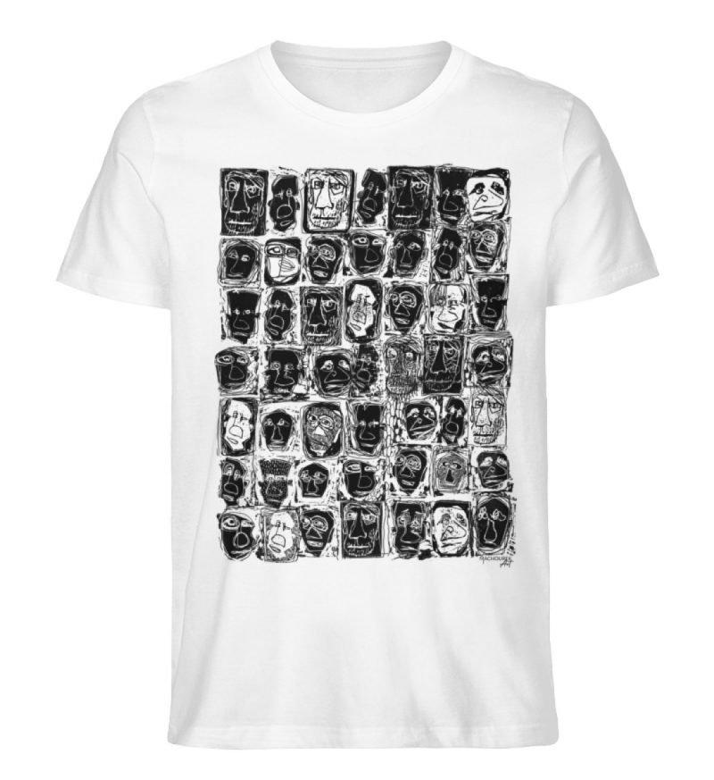 """Fratzparade"" von Vera Machourek - Herren Premium Organic Shirt-3"
