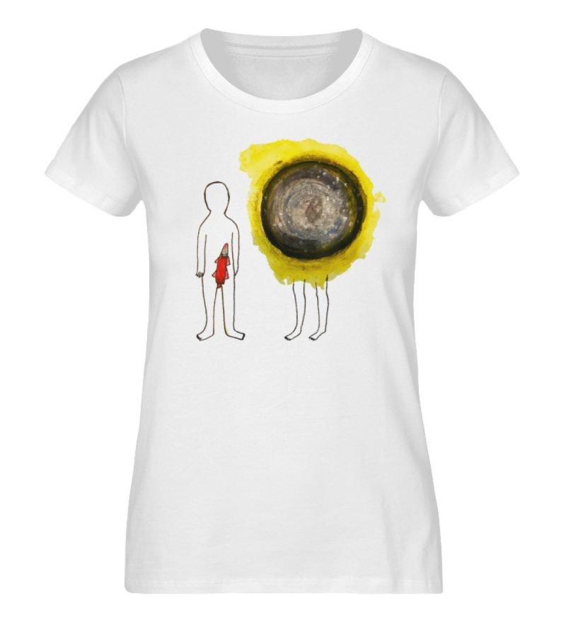 """""""Rakete und All"""" von Lili Aschoff - Damen Premium Organic Shirt-3"""