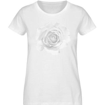 """""""weiße Rose"""" von Patricia Schwoerer - Damen Premium Organic Shirt-3"""