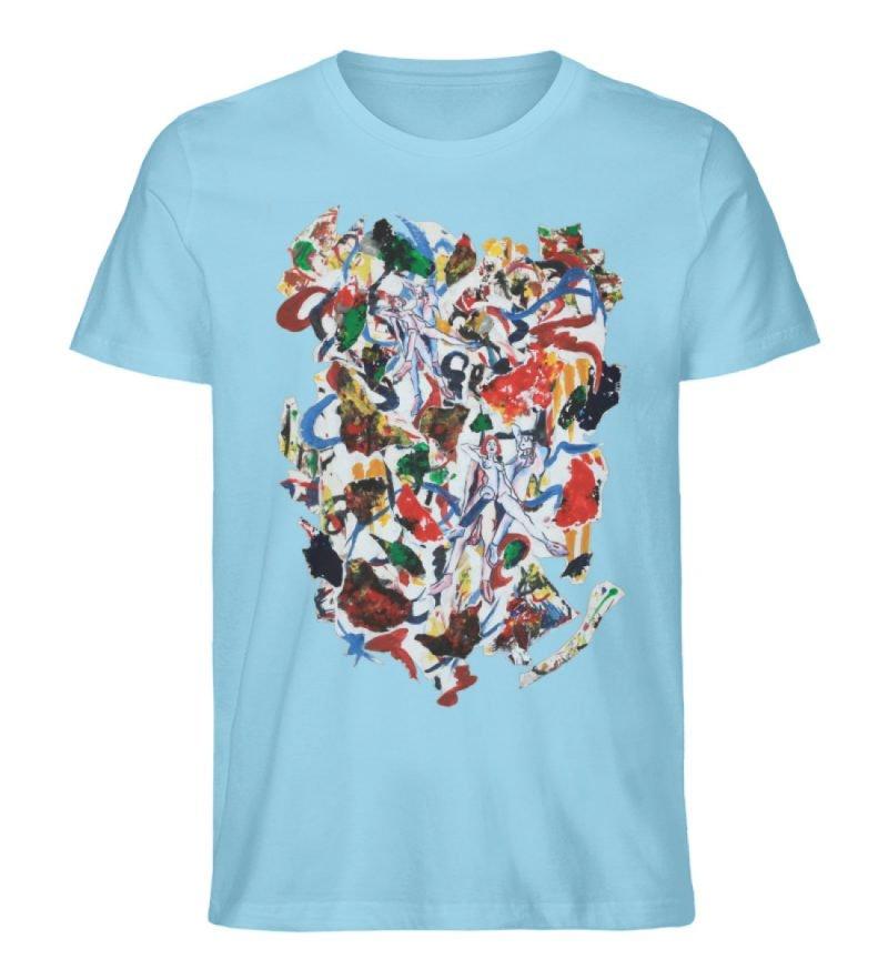 """Ring a Ring o-Rosie"" von Ira Bla - Herren Premium Organic Shirt-674"