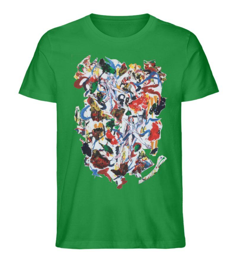 """Ring a Ring o-Rosie"" von Ira Bla - Herren Premium Organic Shirt-6879"