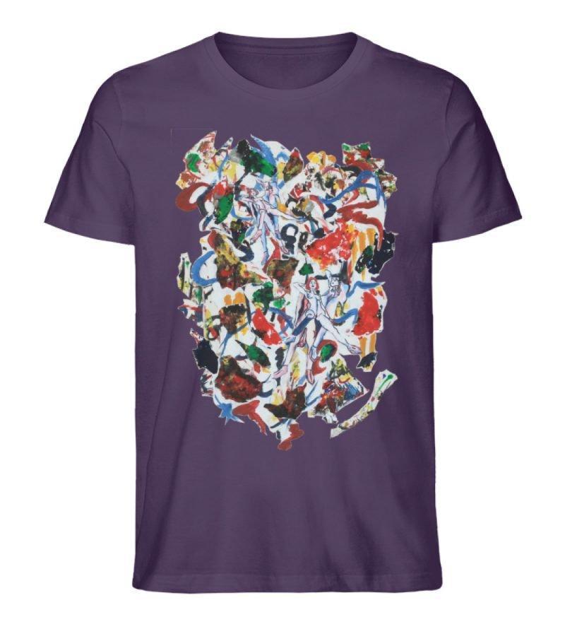 """Ring a Ring o-Rosie"" von Ira Bla - Herren Premium Organic Shirt-6876"